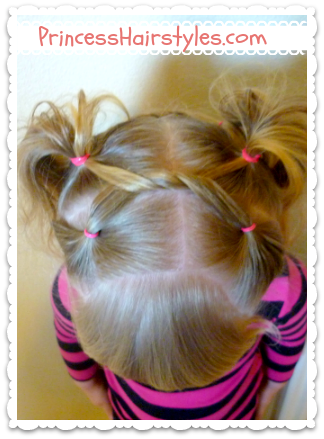 Cute Hairstyles, Shoelace Knot Bun And Pigtails
