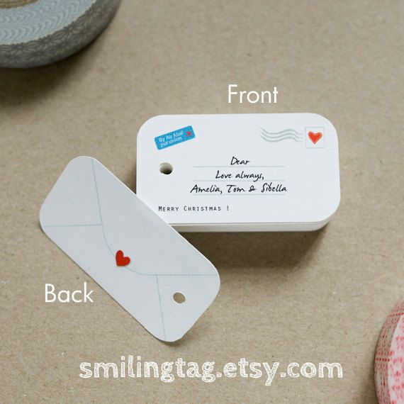 Mini Envelope Design Personalized Gift Tags Wedding Favor Thank You Hang