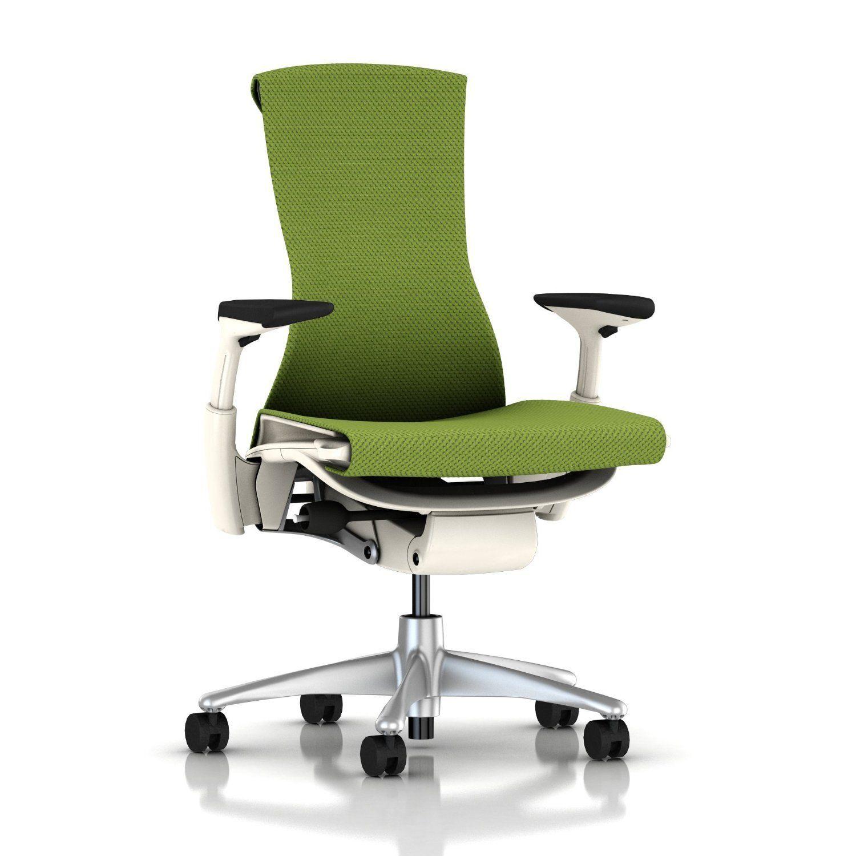 Herman Miller Embody Chair Fully Adj Arms White Frame