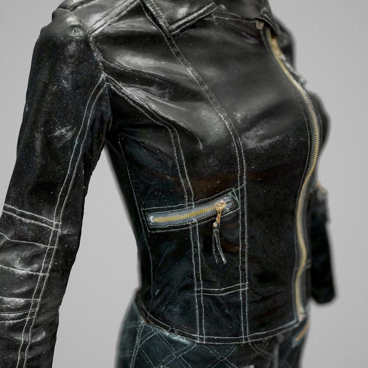 Leather Skirt And Jacket 3d Model Leather Skirt Jackets Clothing Items [ 1200 x 1200 Pixel ]