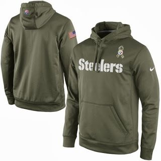 Nike Pittsburgh Steelers Nfl Salute To Service Ko Pullover Performance Hoodie