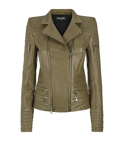Balmain Quilted Leather Biker Jacket - classic yet super cool.