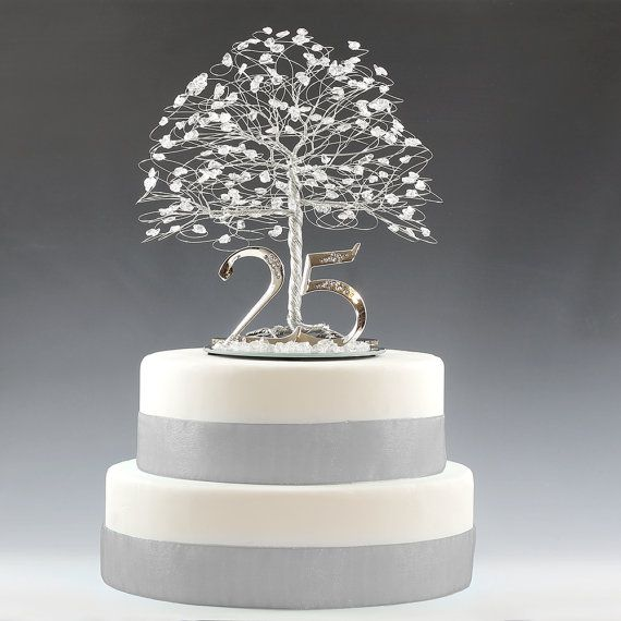 25th anniversary cake topper gift decoration birthday idea for 25th birthday decoration ideas