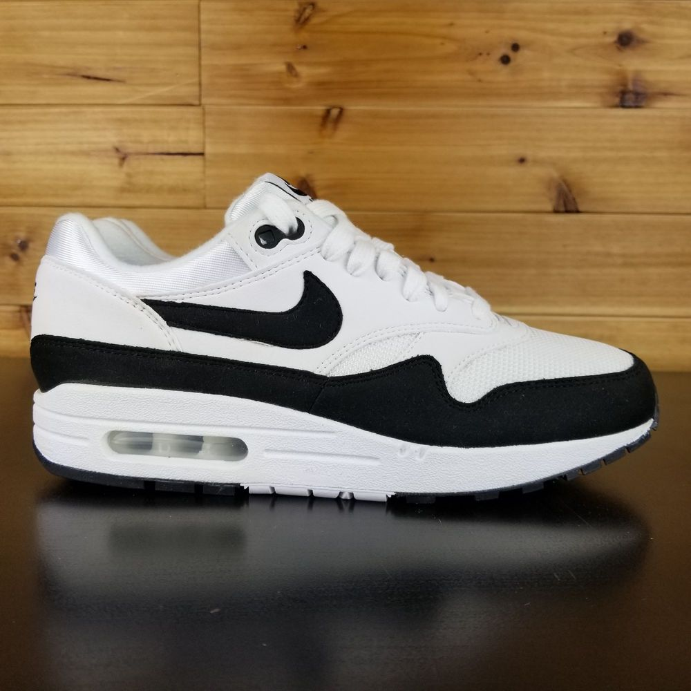 Nike air max 1 white black 319986 109 running womens size 8