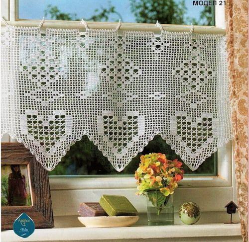 Tende e mantovane a uncinetto modelli e schemi dal web crochet crochet curtains and crochet - Mantovane per tende da cucina ...