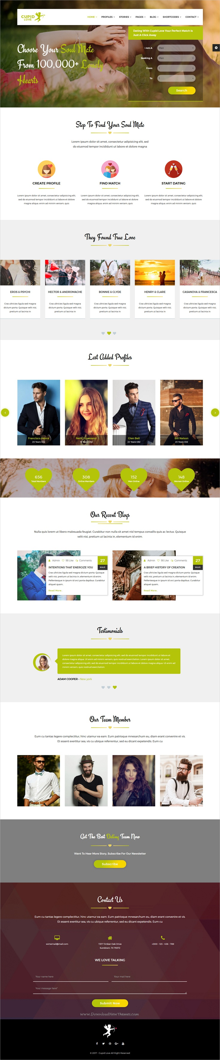 free bootstrap templates for dating