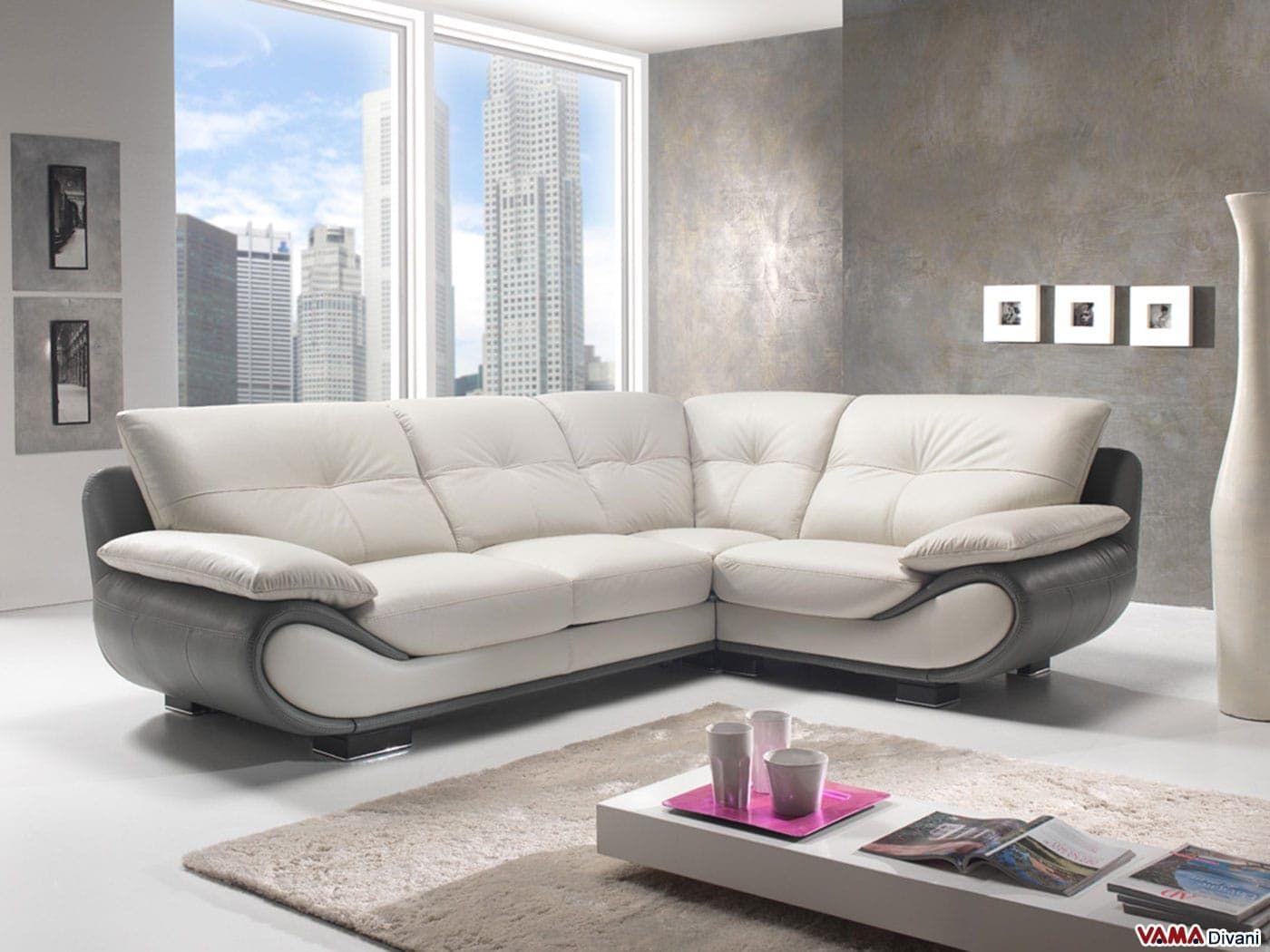 Divano Angolare Pelle Bianco.Divano Angolare New Zealand Vama Divani Living Room Sofa