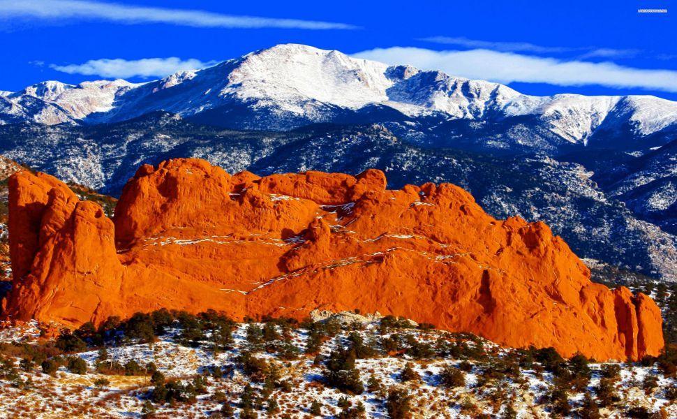 Pike Peaks Mountains HD Wallpaper Colorado travel