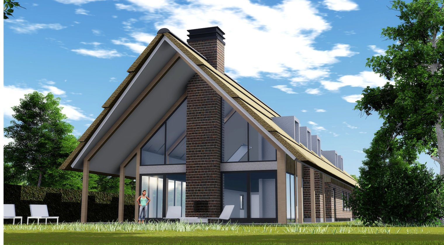Buro stad en land b v visualisatie stable woning huizen pinterest bungalow house and for Modern buro land