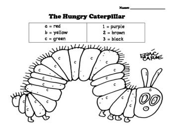 Hungry Caterpillar Color by Number | School Ideas | Hungry ...