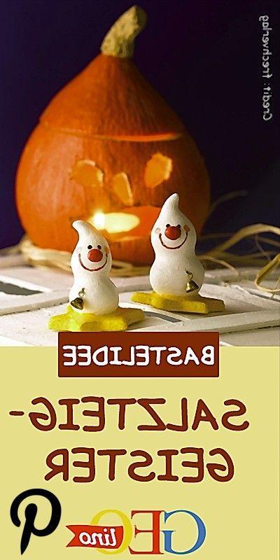 Gespenster aus Salzteig #geisterbasteln #basteln #halloween #gespenster #geister #diy #doityourself #selbermachen #deko Gespenster aus Salzteig #geisterbasteln
