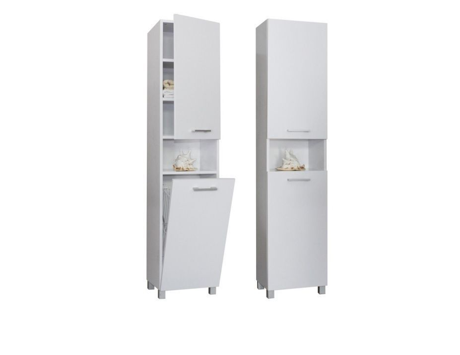 Bathroom Cabinets 400mm Wide tall bathroom cabinet with laundry basket 400mm wide satin white
