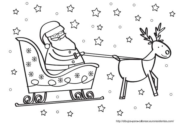Dibujos de Papá Noel para colorear | DIY ღ Navidad ღ Ideas ...