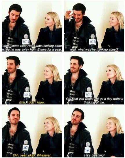 Jen and Colin being adorable dorks
