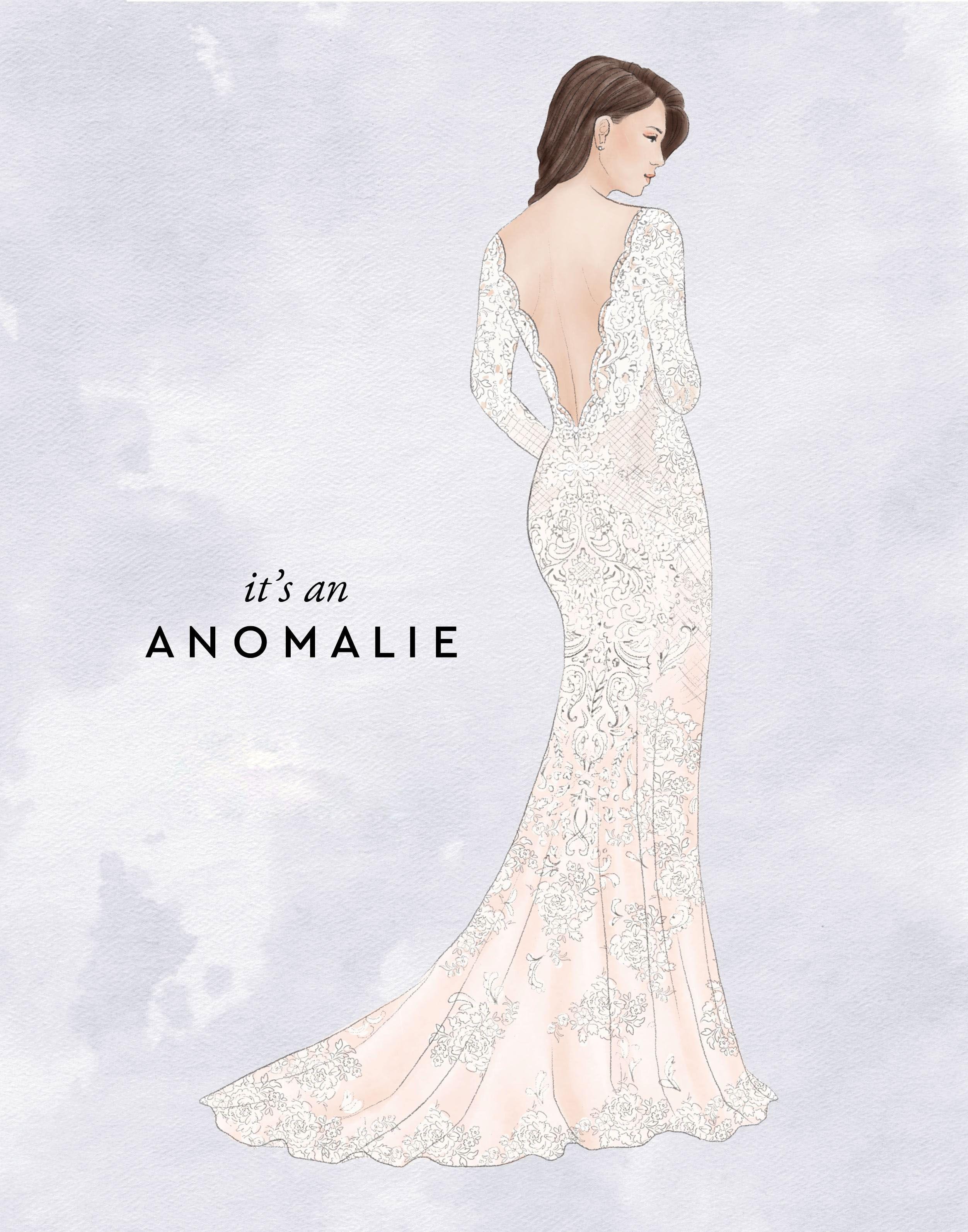 It S An Anomalie Custom Wedding Dress Sketch For One Of Our Anomalie Brides Wedding Dress Sketches Wedding Dress Quiz Online Wedding Dress