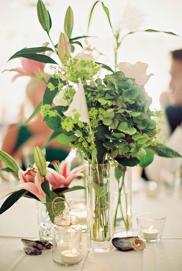 Tischdeko Hochzeit Ideen Blumen Rosa Lilien Gruen Hochzeiten