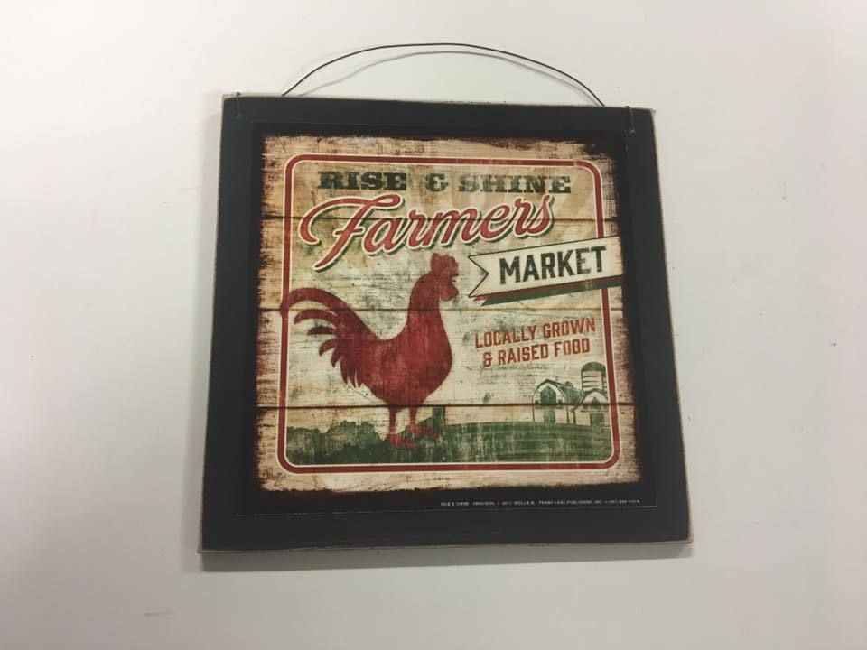 Decorative Wooden Kitchen Signs Extraordinary Rooster Farmers Market Eggs Country Kitchen Wooden Wood Wall Art Inspiration Design