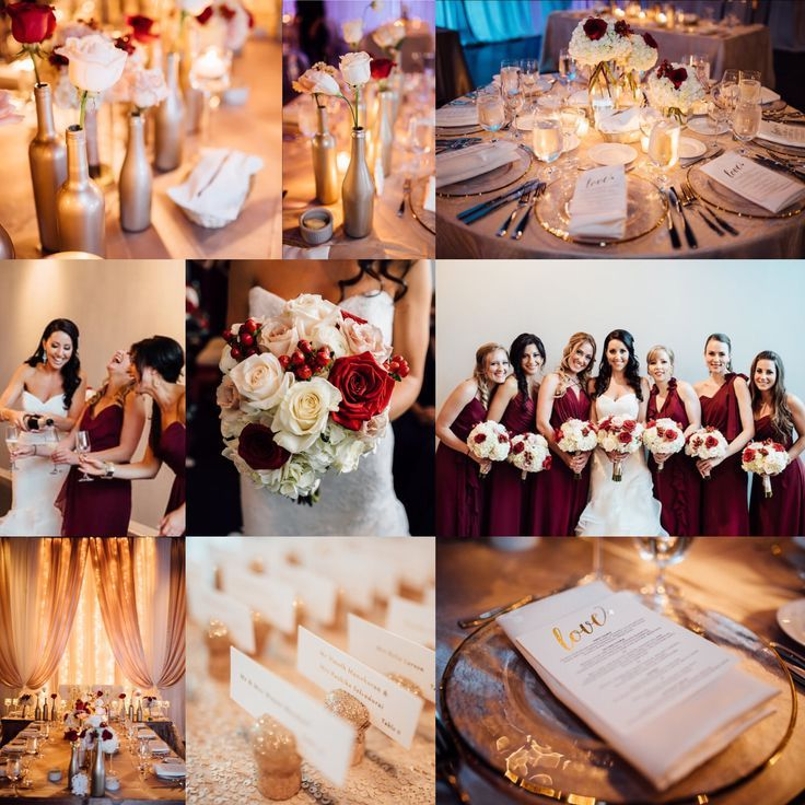 Image result for champagne, gold, and cranberry red wedding ...