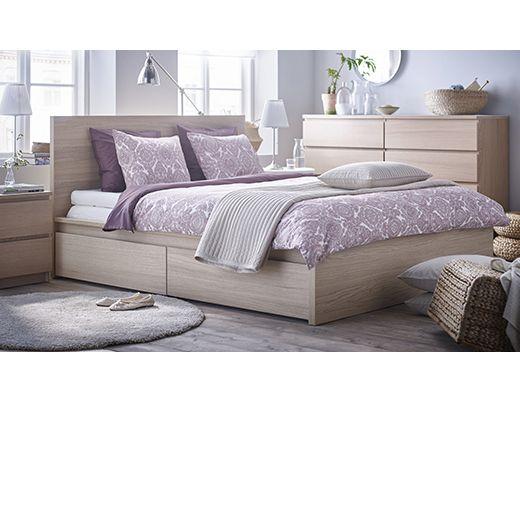 cama de la serie MALM de IKEA | Home. | Pinterest | Malm, Ikea y Camas