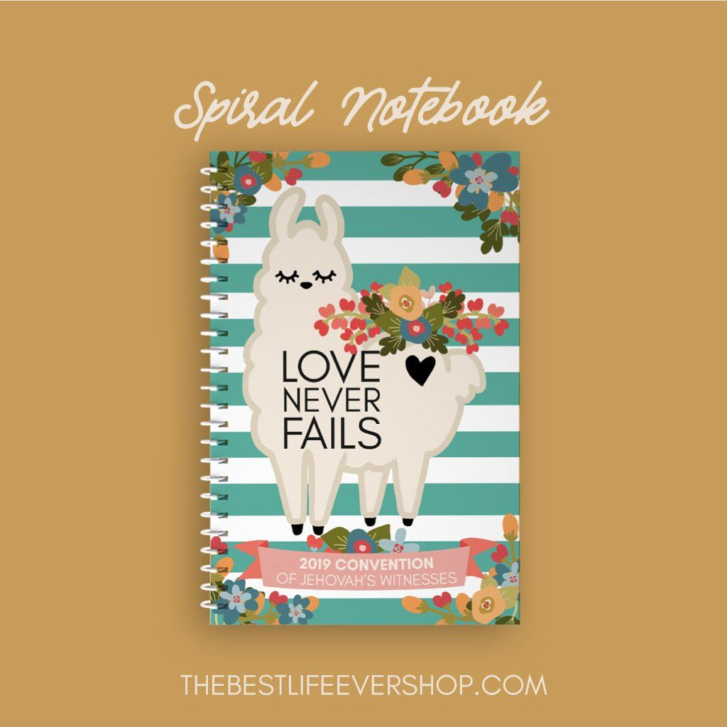 2019 Love Never Fails Convention Spiral Notebook - Leah the