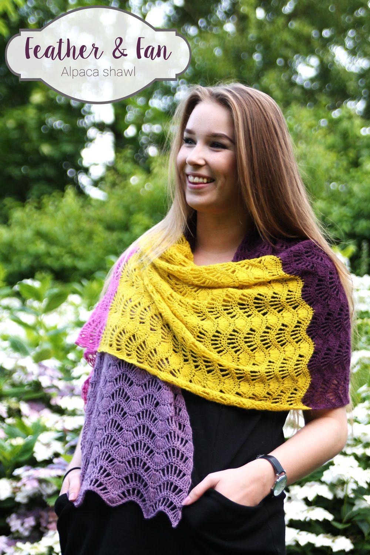 Gratis haakpatroon: Feather & Fan shawl | Tücher, Stola und Schals