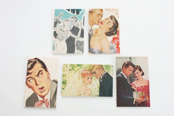 Vintage Magazine Envelopes Couples in Love by TheBeetlesKnees