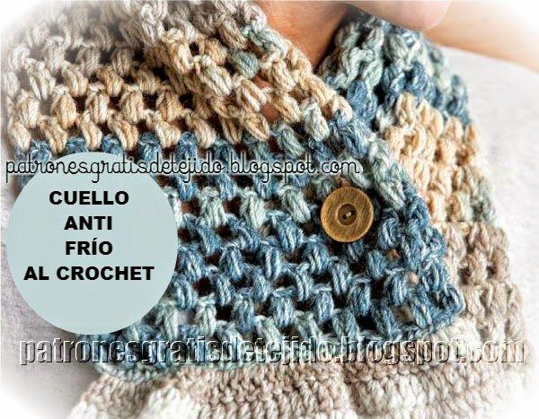 Patrones de cuello ganchillo | Crochet cuellos, bufandas, guantes y ...