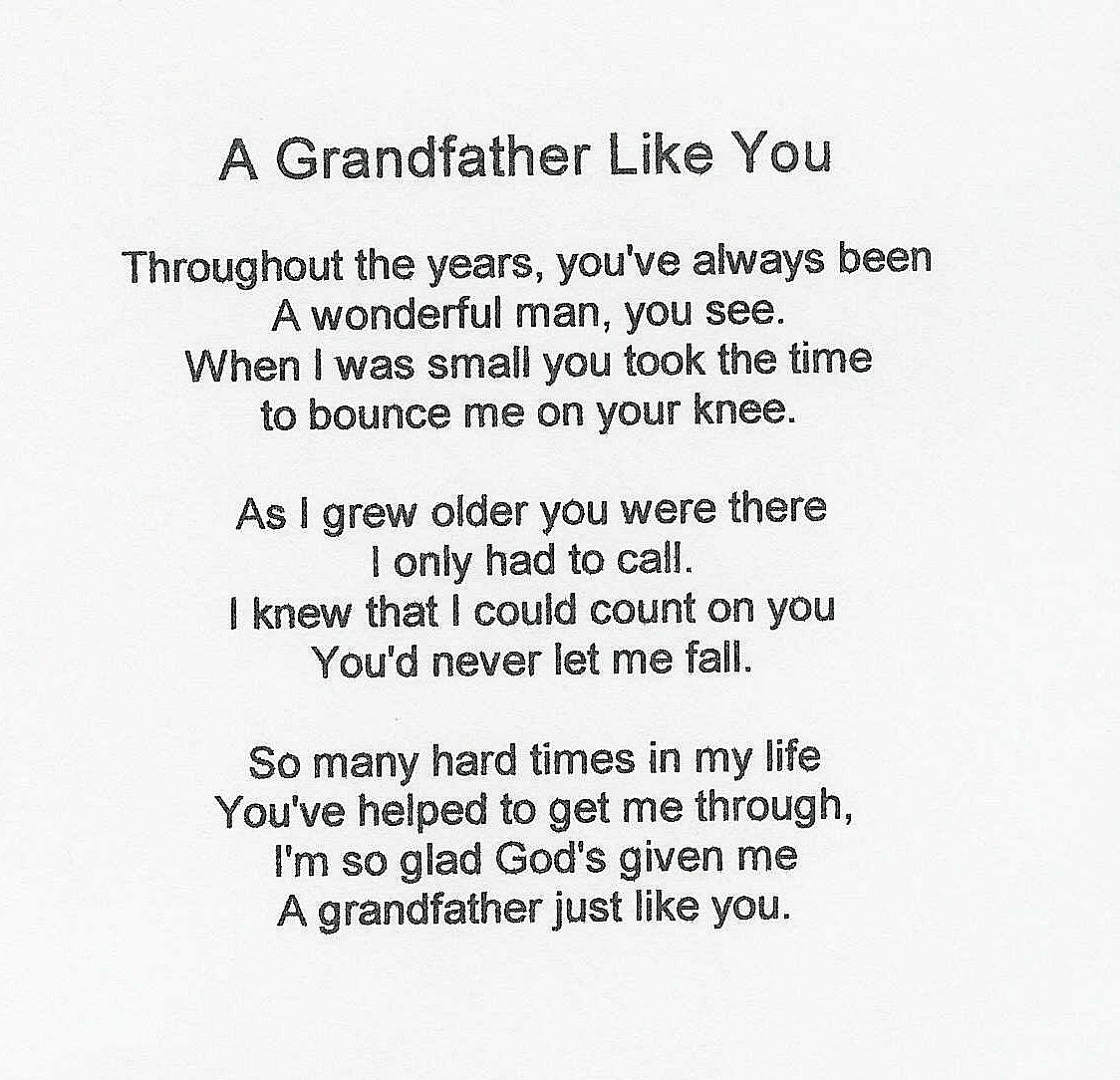 happy birthday grandpa poems - Google Search #grandfathertattoo