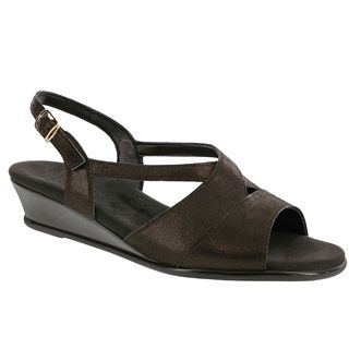 Caress Sandal in Space Nero Leather