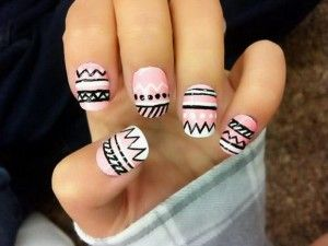 Ghetto Nails With Unique Design Colorful Nails Pinterest