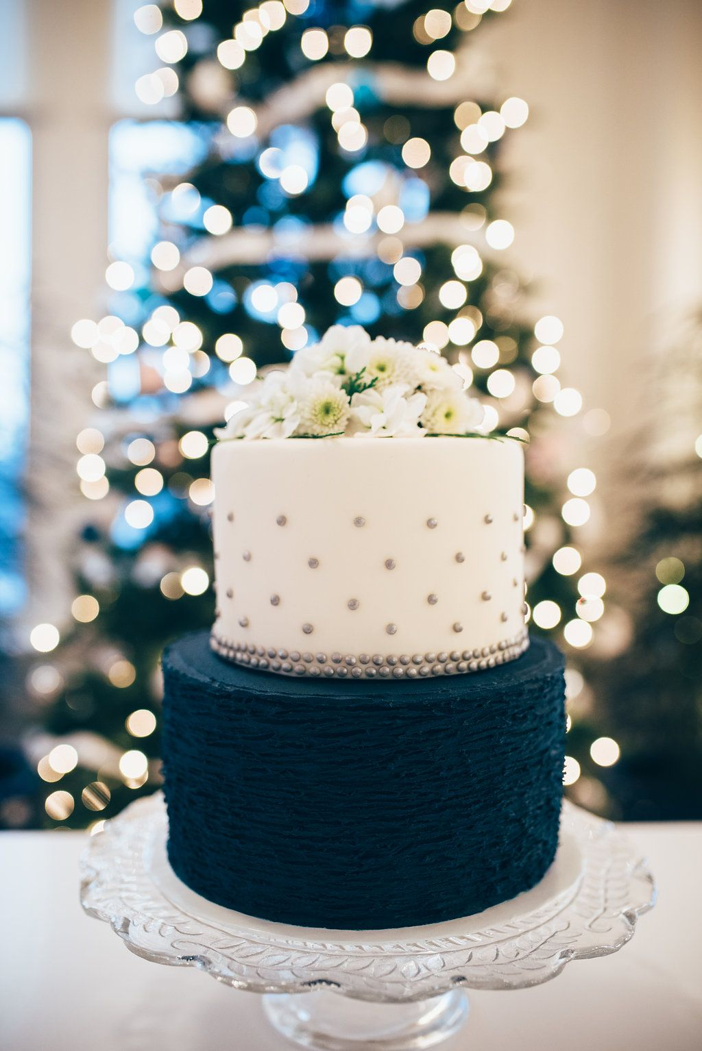Navy White And Silver Wedding Cake Raleigh Durham Vendors Nc Planning