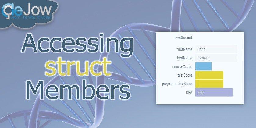 C++: Accessing Struct Members