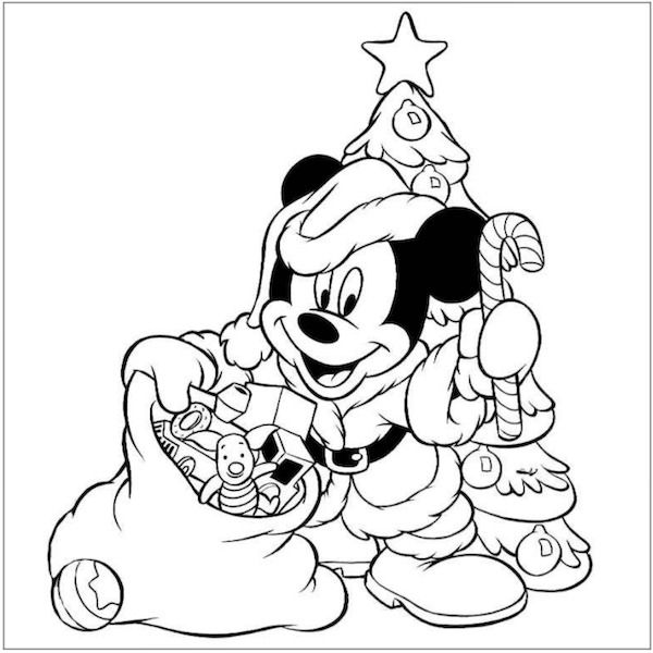 Free #Mickey Christmas Coloring Pages | Disney Coloring Pages ...