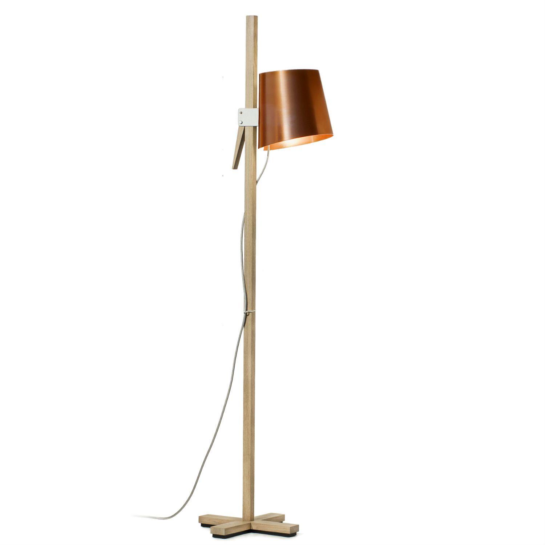 lampadaire ch ne cuivre h150cm croiz lampadaires cuivre et abat jour. Black Bedroom Furniture Sets. Home Design Ideas