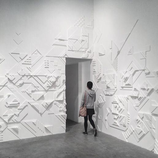 Very simple and interesting wall treatment. from Matt W. Moore