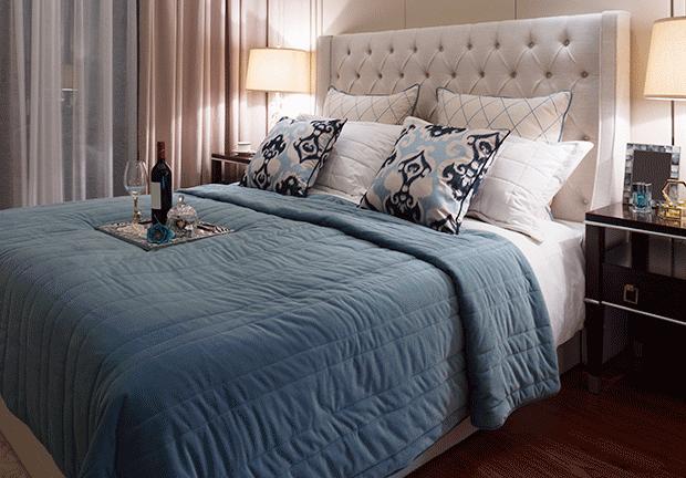 Schlafzimmer Blau ~ Schlafzimmer in nude und blau homemate interior design maritim