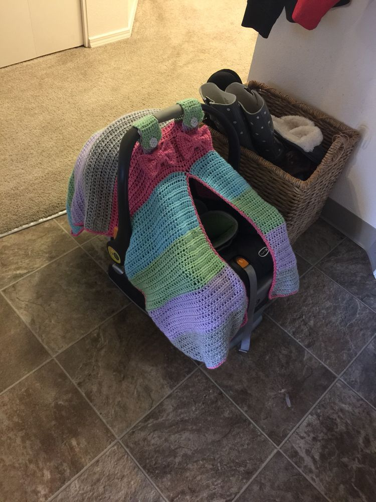 Pin By Linda Huff On Crochet Baby Car Seat Tent Seat