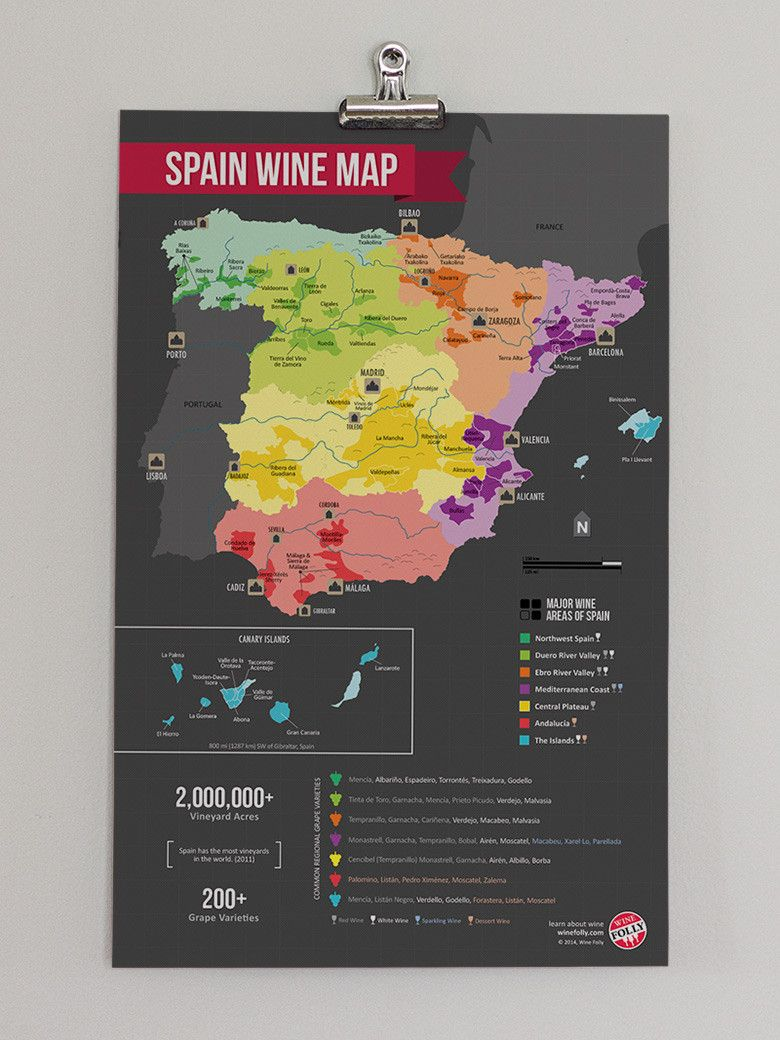 Map Of Spain To Label.Spain Wine Map Oh The Places You Ll Go Wine Folly Spanish