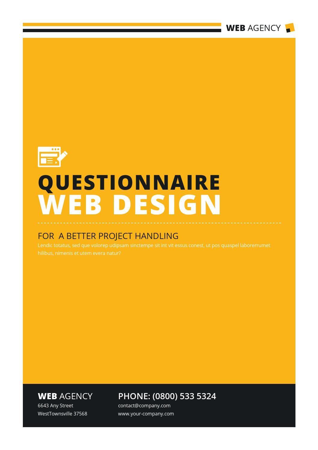 Questionnaire V2 Web Design Tips Web Development Design Web Design Quotes