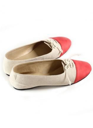 Color Block Round Toe Flat with Tie Front,  Shoes, color block flats, Chic