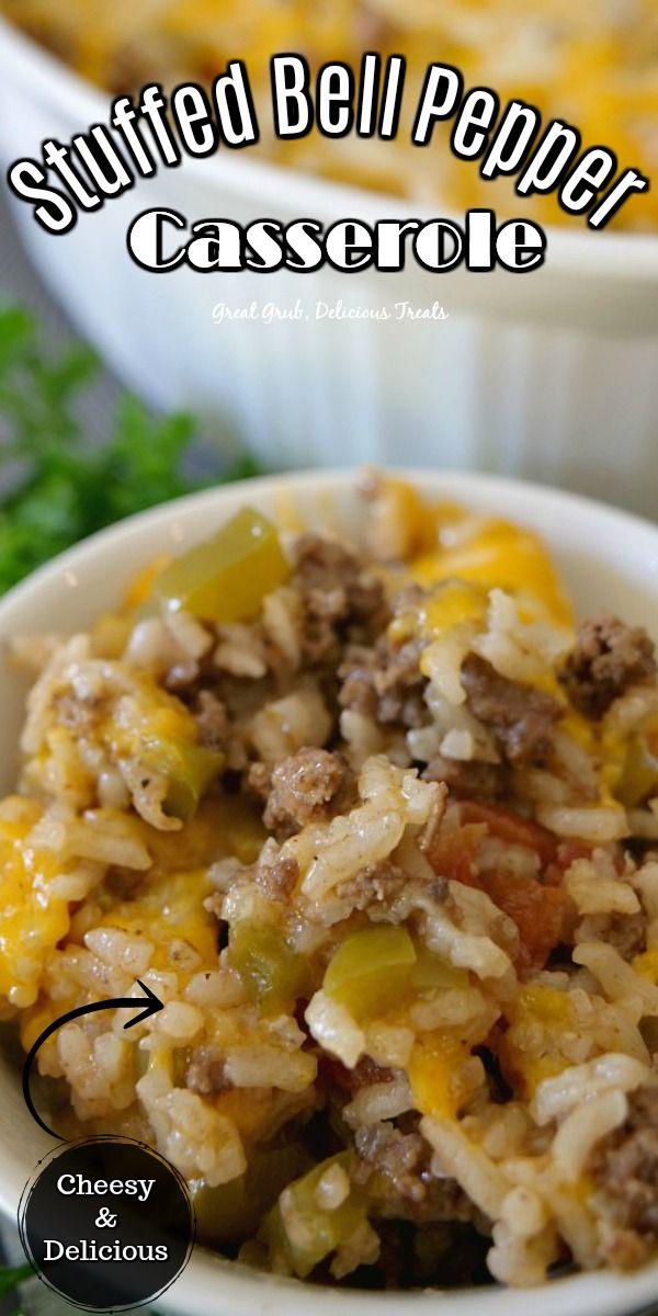 Stuffed Bell Pepper Casserole In 2020 Yummy Casserole Recipes Yummy Casseroles Stuffed Peppers