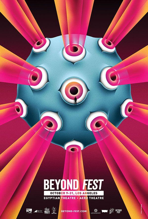 labocauk:  2013. Illustration by La Boca for Beyond Fest. - Film festival poster.