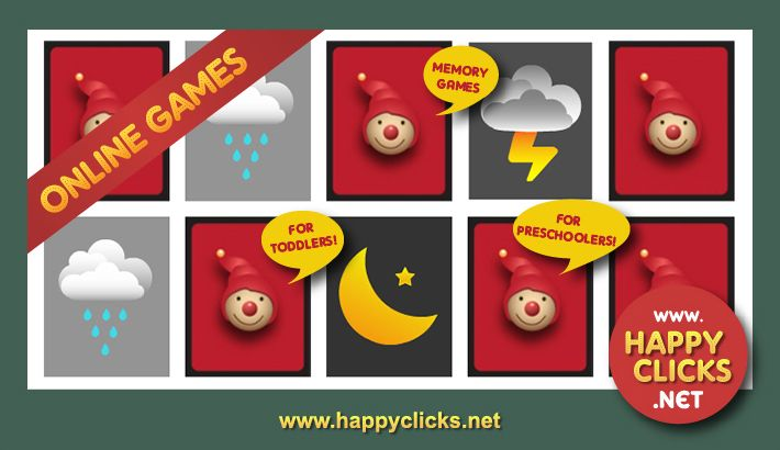 Free Memory Games For Kids Play Weather Symbols Game Online