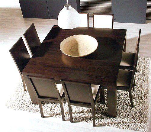 mesa de comedor cuadrada para 8