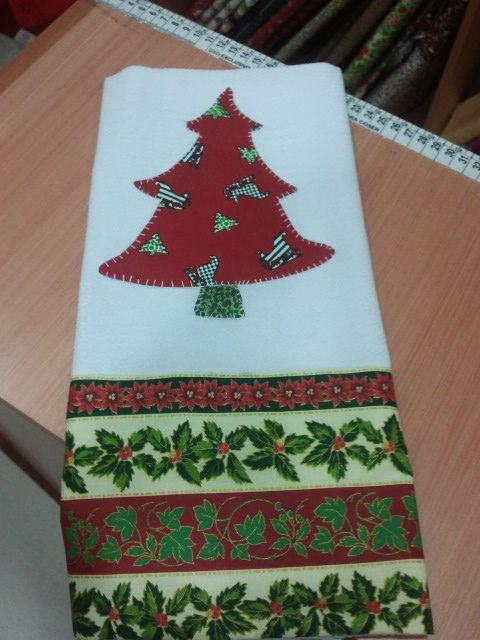 Aplique De Arvore De Natal Com Imagens Pano De Prato De Natal