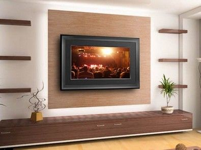 Wall Mounted Tv Ideas Spruce Up Your Television E With A Frame Surround Which