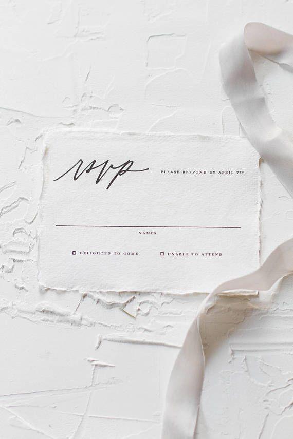 Black and White Wedding Invitation Classic Wedding Simple | Lichen ...