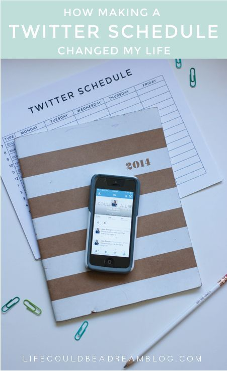 Creating a twitter schedule to help increase engagement and gain