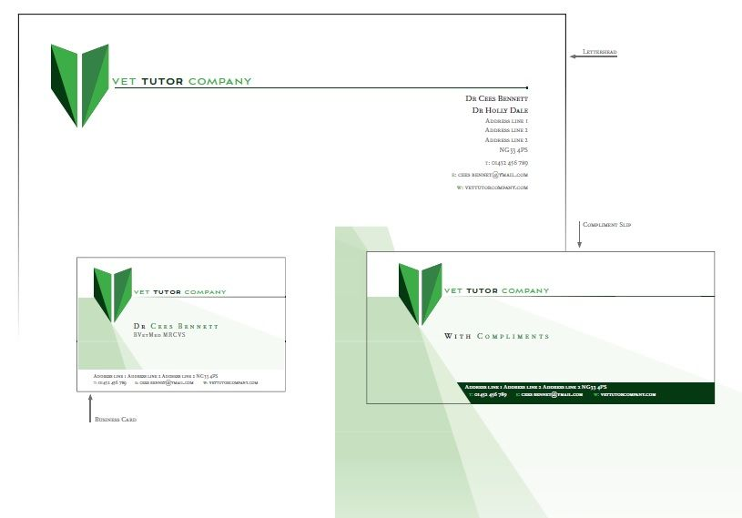 Logo and stationery designed and printed by Carr Creative