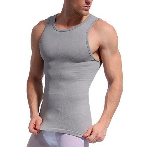 TiaoBug Mens Compression Slimming Body Shaper Abdomen Vest Under Shirt